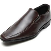 Sapato Social Colombo Liso Marrom