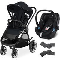 Carrinho De Bebê Balios M Com Bebê Conforto Aton 5 Cybex Preto