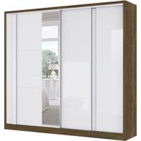 Guarda-Roupa Casal Com Espelho Frontier 2 Pt 4 Gv Branco