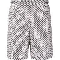 Alexander Mcqueen Shorts De Banho - Branco