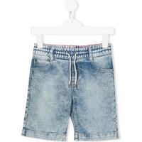 Little Marc Jacobs Short Jeans Com Ajuste No Cós - Azul