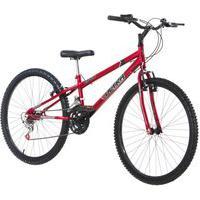Bicicleta Rebaixada Vermelha Aro 26 18 Marchas Pro Tork Ultra