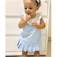 Vestido Infantil Vanvan Azul