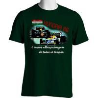 Camiseta Fórmula Retrô Vintage Hungria 1986 Verde