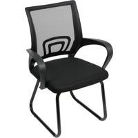 Cadeira De Escritã³Rio Tok Fixa- Preta- 93X59X50Cm