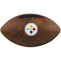 Bola De Futebol Americano Wilson Nfl Jr Steelers Wtf1539Xbpt, Cor: Marrom/Branco, Tamanho: Único