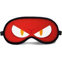 Máscara De Dormir Tritengo Evil - Unissex-Vermelho