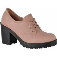 Oxford D&R Shoes Tratorada Feminina - Feminino-Nude