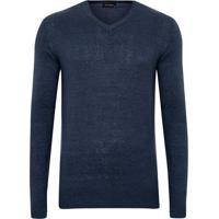 Suéter Tricot Gola V Azul Plus