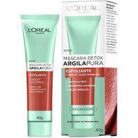 Máscara Detox Argila Pura L'Oréal Esfoliante 40G