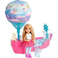 Boneca E Barco Barbie - Barbie Dreamtopia - Chelsea Com Barco Balão - Mattel - Feminino-Incolor