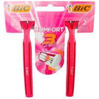 Aparelho De Barbear Bic Comfort 3 Pink 2 Unidades