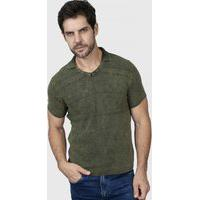 Camiseta Polo Em V - Le Tisserand Provence Verde