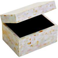 Porta Joias Abstrato- Bege & Laranja Claro- 21X28X24Btc Decor