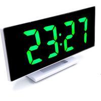 Relogio Led Digital Espelhado De Mesa Alarme Despertador Temperatura Usb