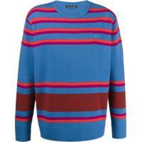Acne Studios Vip Striped Knitted Jumper - Azul