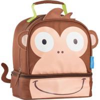 Lancheira Escolar Multikids Little Buddys Macaco Caco Térmica - Unissex-Marrom