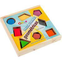 Jogo Pedagógico Educativo Carlu Passa Formas Geométricas 8 Peças