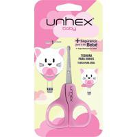Tesoura Para Unhas – Unhex - Baby - Gatinha - Rosa