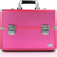 Maleta De Maquiagem Profissional Vazia Jacki Design Grande Reforçada Pink