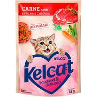 Ração Para Gatos Kelcat Carne Com Ervilha E Cenoura Sachê 85G