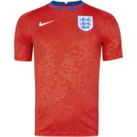 Camisa Pré-Jogo Seleção Da Inglaterra 20/21 Nike - Masculina - Vermelho/Branco