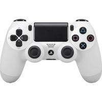 Controle Sony Dualshock 4 Branco Sem Fio (Com Led Frontal) - Ps4 - Unissex