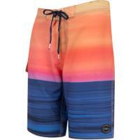 Bermuda O'Neill Boardshort 8720A - Masculina - Azul Esc/Laranja