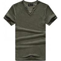 Camiseta Masculina Gola V Manga Curta - Verde Exército