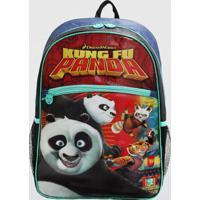Mochila Kung Fu Panda Infantil Média Clio Azul (Sortido, M)