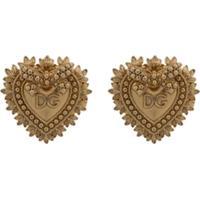 Dolce & Gabbana Abotoaduras Com Detalhe Dg Heart - Dourado