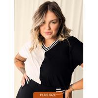 Blusa Feminina Plus Size Bege