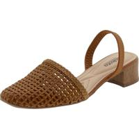 Sapato Feminino Mule Slingback Dakota - G2001 Caramelo 36