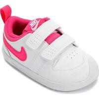 Tênis Infantil Nike Pico 5 Velcro - Masculino-Branco+Pink