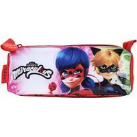 Estojo Infantil Escolar Pacific Simples Triangular Ladybug Menina - Feminino-Vermelho