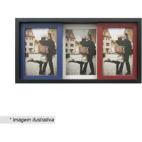 Painel Slide Para 3 Fotos- Branco & Preto- 19X38X6Cmkapos