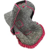 Capa Para Bebê Conforto 0 A 13 Kg Zebra Alan Pierre Baby Pink
