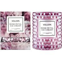 Vela Rose Petal Ice Cream Roses Collection Redoma Texturizada Geométrica 3D 55 Horas Voluspa