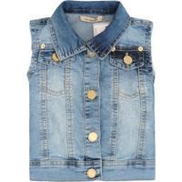 Colete Jeans Feminino Cavado - Feminino-Azul