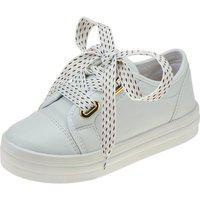 Tenis Infantil Menina Fashion Feminino Cadarço Colorido Flat Branco