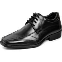 Sapato Social Pierrã´ Conforto Preto Recortes - Preto - Masculino - Couro - Dafiti