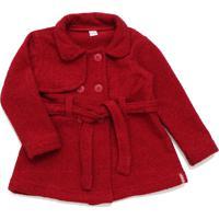 Casaco Capa Bebê Tóing Tweed Vermelha