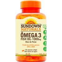 Ômega 3 Sundown Fish Oil Sundown Naturals 120 Cápsulas