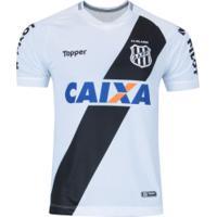 Camisa Da Ponte Preta I 2018 Topper - Masculina - Branco/Preto