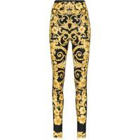 Versace Legging Estampada - Amarelo