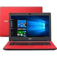 "Notebook Acer Es1-431-C3W6 Vermelho - Intel Celeron N3050 - Ram 2Gb - 32Gb - Led 14"" - Windows 10"