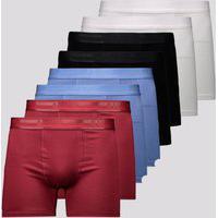 Kit De 8 Cuecas Boxer Lupo Elastic Soft
