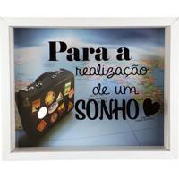 Quadro Cofre Decorativo Madeira Para A Realização De Um Sonho Art Frame