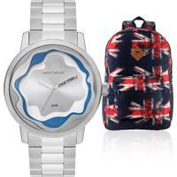 Kit Relógio Feminino Mormaii Com Mochila British Britishmo2035Ix