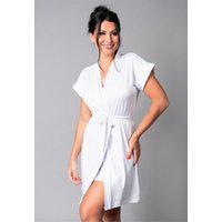 Hobby Mvb Modas Roupão Feminino Noiva Sexy Robe Romantic Branco